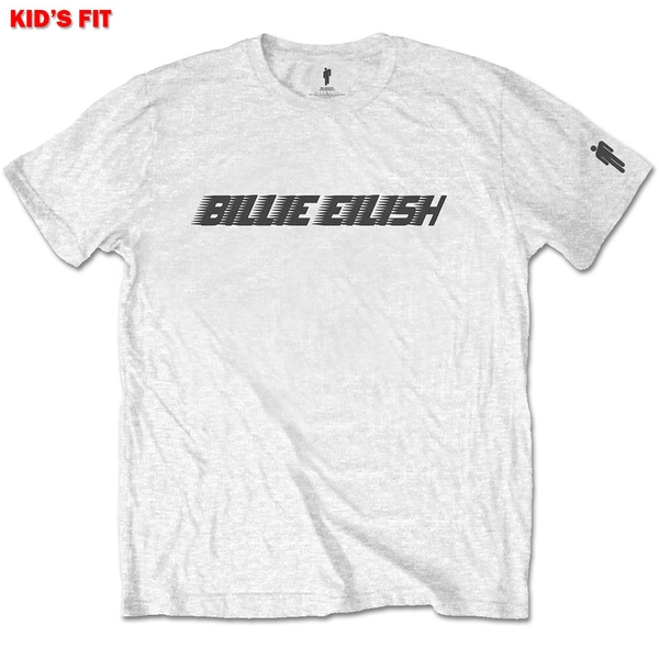 Billie Eilish - Black Racer Logo Kids 11 - 12 Years T-Shirt - White
