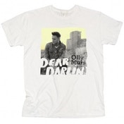 Olly Murs Dear Darlin Skinny White T-Shirt Large
