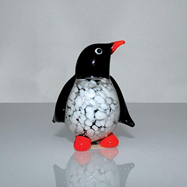 Objets d'Art Miniature Glass Ornament - Penguin
