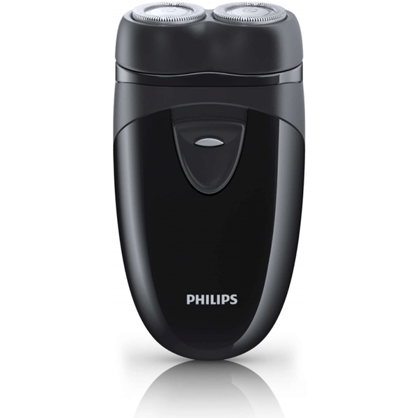 Philips Travel Shaver with Twin Rotary Heads and Travel Pouch UK Plug