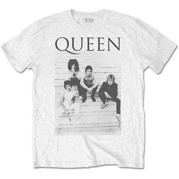 Queen - Stairs Men's XX-Large T-Shirt - White