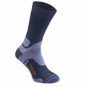 Bridgedale WoolFusion Trekker Sock, Grey, UK Size 6 - 8.5 - Twin Pack