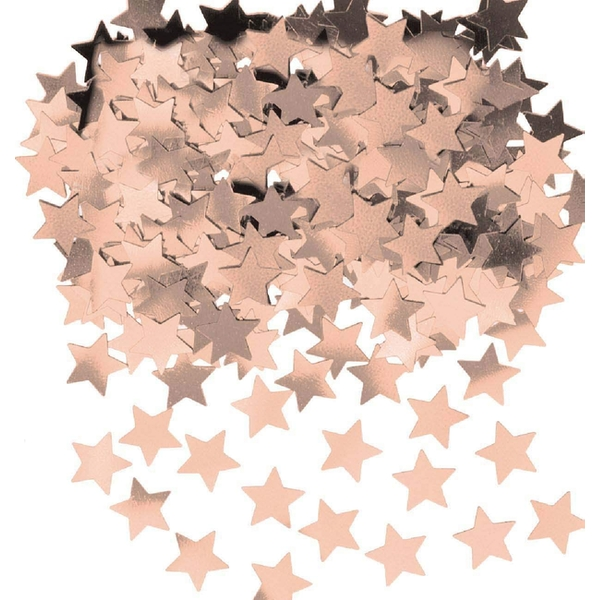 Amscan Metallic Shiny Stars Confetti (Rose Gold)