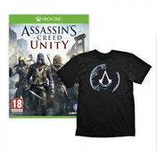 Assassin's Creed Unity Xbox One Game with Assassin's Creed 4 Animus Crest Large T-Shirt