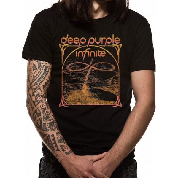 Deep Purple Multi Colour Unisex XX-Large T-Shirt - Black