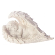 Sleeping Cherub Lying on Side  (Pack Of 4) Figurine