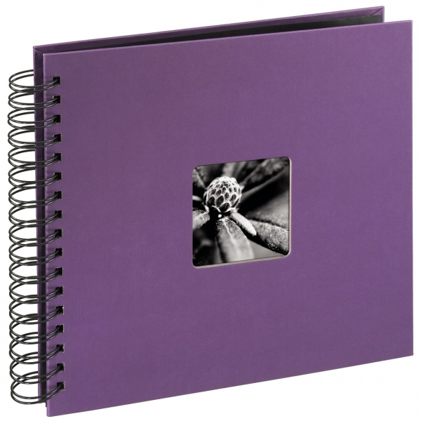 Hama Fine Art Spiralbound Album 28x24 cm 50 black pages (Purple) - Image 1