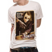 Batman The Dark Knight - Magic Trick Unisex White T-Shirt Large