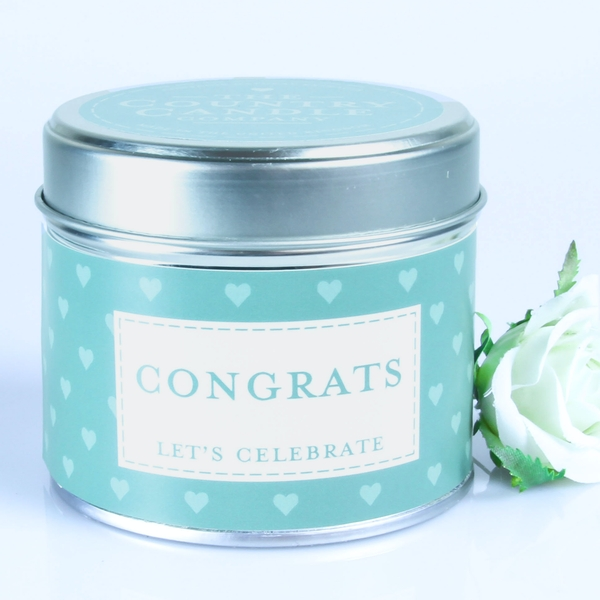 Congrats (Sentiment Collection) Tin Candle