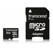 Transcend 16GB MicroSDHC with Adaptor Class 10