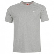 Slazenger Plain T-Shirt Medium Grey Marl