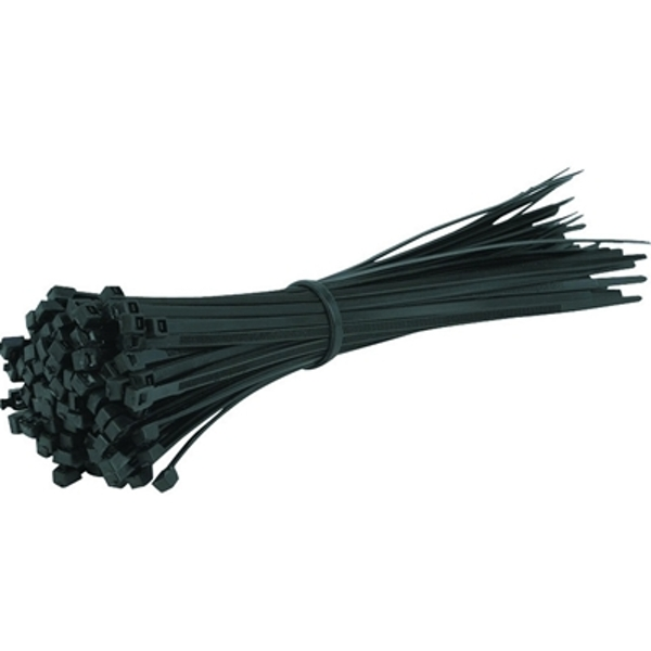100 Pack of 200 x 4.5mm Black OEM Cable Ties