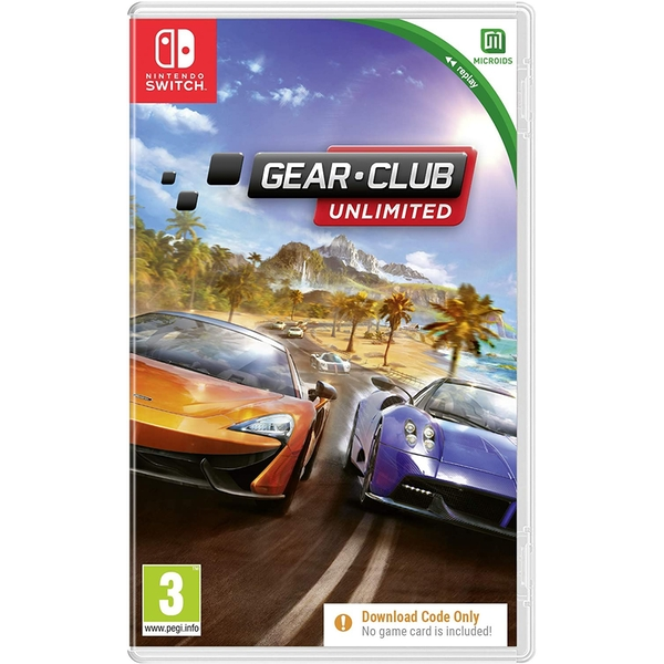 Gear Club Unlimited Nintendo Switch Game [Download Code In A Box]