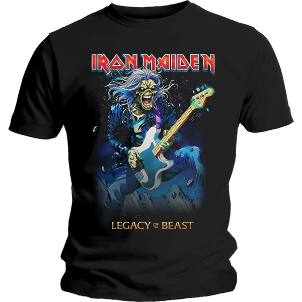Iron Maiden - Eddie on Bass Unisex Large T-Shirt - Black