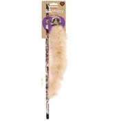 Rosewood Jolly Moggy Feather Boa Cat Toy Cream Animal Design