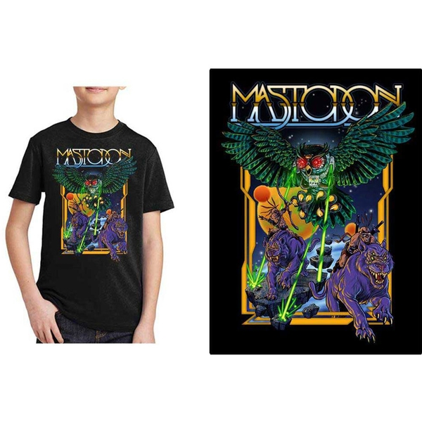 Mastodon - Space Owl Kids 7 - 8 Years T-Shirt - Black