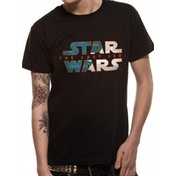 Star Wars 8 - Blue Print Logo Men's Small T-Shirt - Black