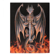Small Dragon Warrior Canvas Picture by Anne Stokes