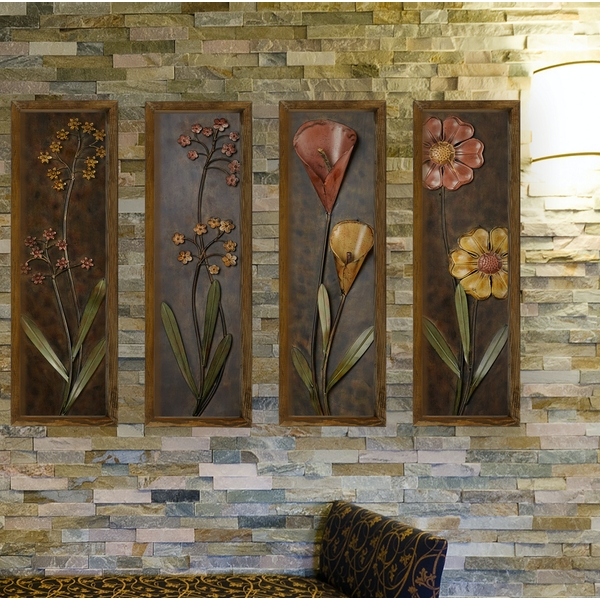 KZM384 Multicolor Decorative Framed MDF Painting (4 Pieces)
