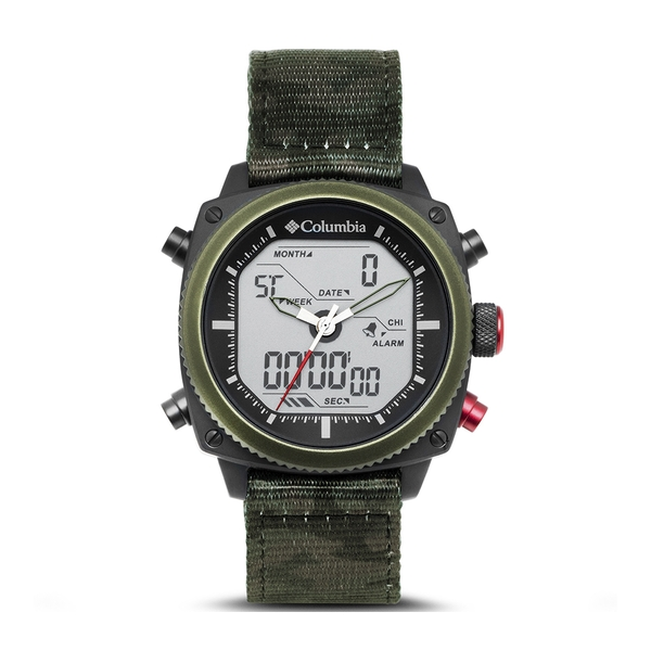 Columbia CSC05-002 Ridge Runner Analog-Digital Camo Nylon Watch
