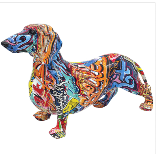 Graffiti Dachshund Large Figurine By Lesser & Pavey