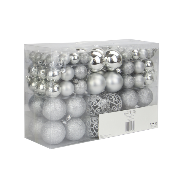 100pc Baubles Pack | Pukkr Silver