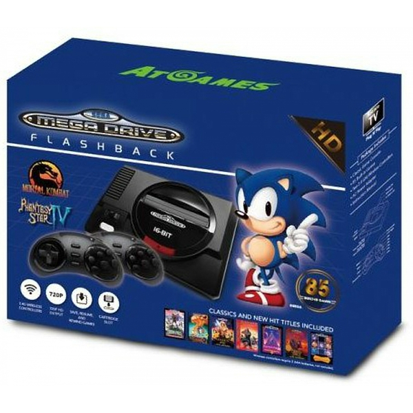 Arcade Classic Sega Mega Drive Flashback Wireless Mini HD Console (EU Plug)