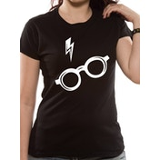 Harry Potter - Glasses Fitted Women's Large T-shirt - Black