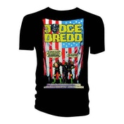 Judge Dredd & 2000 AD - Judge Dredd US Flag - Crimes Against America Men's Small T-Shirt - Black