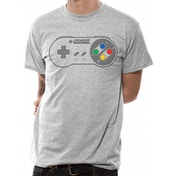Nintendo - Snes Controller Pad Men's Large T-Shirt - Grey