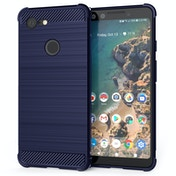CASEFLEX GOOGLE PIXEL 3 CARBON ANTI FALL TPU CASE - BLUE