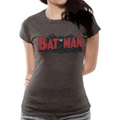 Batman - Authentic Logo Women's XX-Large T-Shirt - Grey