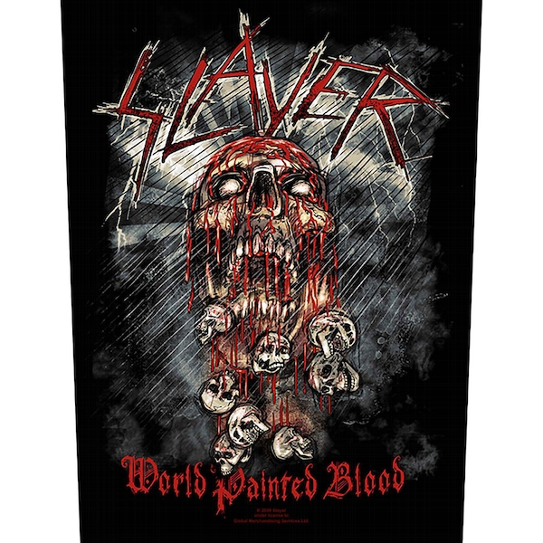 Slayer - World Painted Blood Back Patch