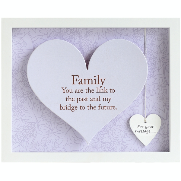 Said with Sentiment Rectangular Heart Frames Family