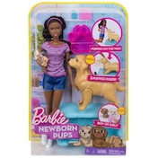 Barbie Newborn Pups Playset Doll