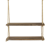 Wooden Hanging Shelf | M&W 2 Tier