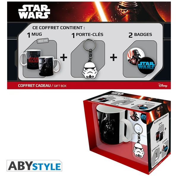 Star Wars - Trooper-Vador (Mug + Keychain Trooper + Badges) Gift Box