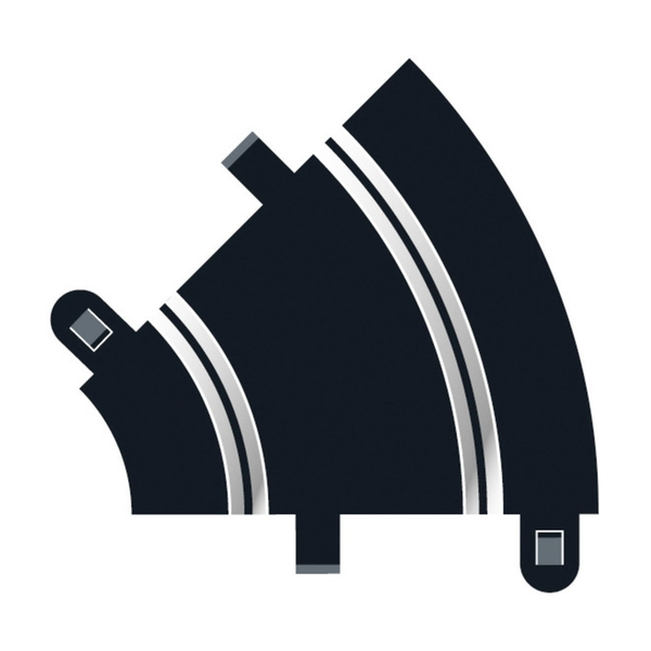 Radius 1 Curve 45° (Set Of 2) Scalextric Accessory Pack