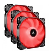 Corsair AF High Airflow Low Noise Red LED Cooling Fan - 120mm - Triple Pack