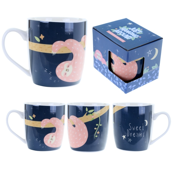 Sleepy Sloth Design Fun Animal New Bone China Mug