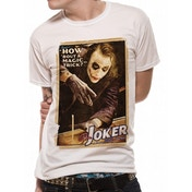 Batman The Dark Knight - Magic Trick Unisex White T-Shirt X-Large
