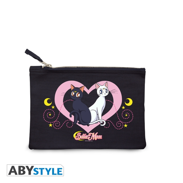 Sailor Moon - Luna & Artemis - Blue Cosmetic Case
