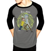 Rick And Morty - Spiral Men's Medium Baseball T-Shirt - Grey