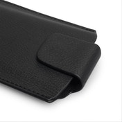 YouSave Accessories Lychee Leather-Effect Pouch (M) - Black