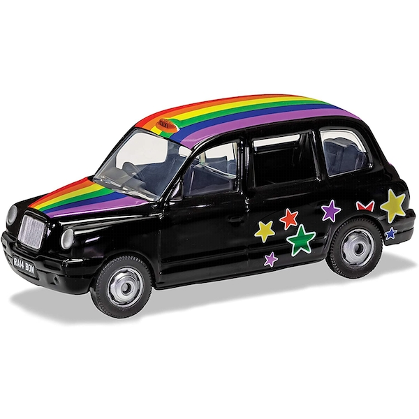 Corgi London Rainbow Taxi Diecast Model