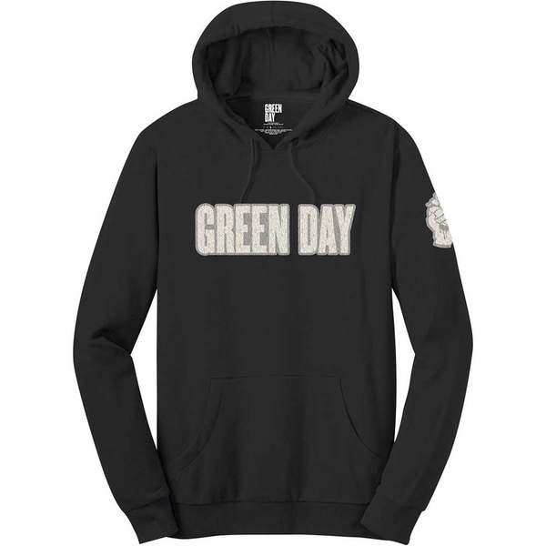 Green Day - Logo & Grenade Men's X-Large Pullover Hoodie - Black
