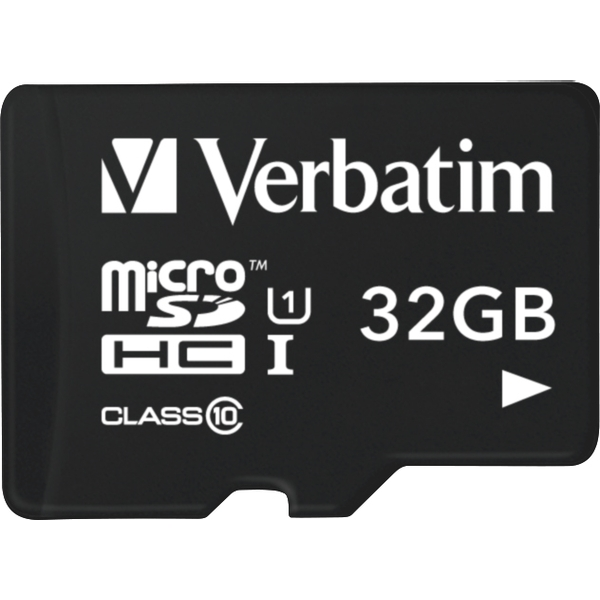 Verbatim Tablet U1 microSDHC Card with USB Reader 32GB memory card