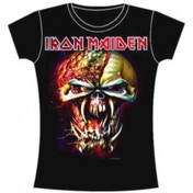 Iron Maiden Final Frontier Eddie Big Head Skinny Ladies T