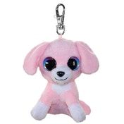 Lumo Stars Mini Keyring - Dog Pinky Plush Toy