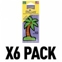 (6 Pack) California Scents Palms Hang-Outs Monterey Vanilla Car/Home Air Freshener